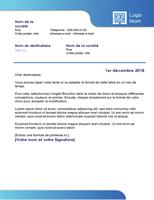 Lettre commerciale (bordure bleue et dégradé coloré)