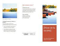 Brochure professionnelle à trois volets (design orange)