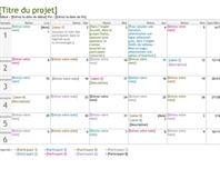 Barre de planning de projet