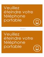 Affiche de rappel d'extinction des téléphones portables (orange)
