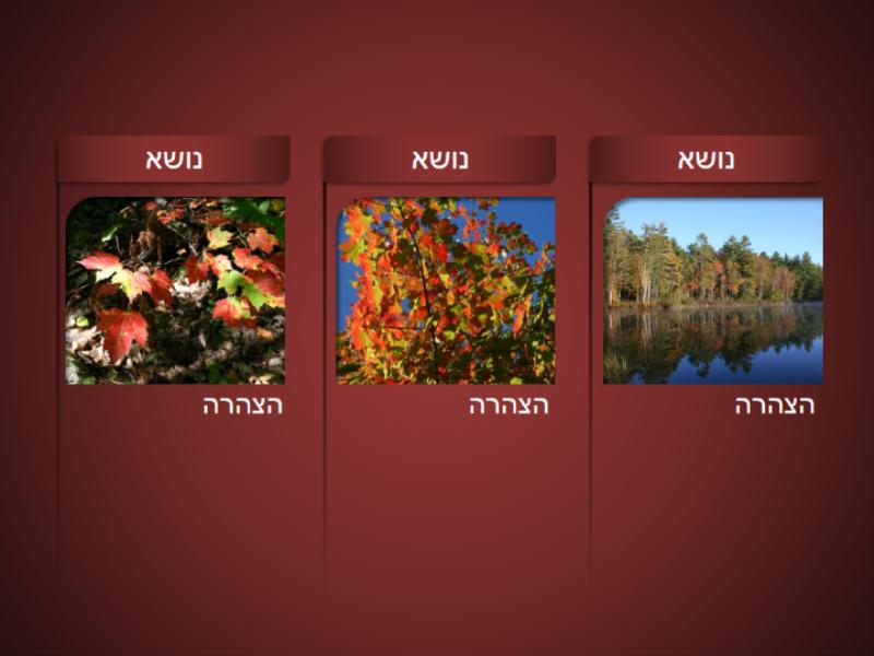 גרפיקת SmartArt עם תמונות על רקע אדום