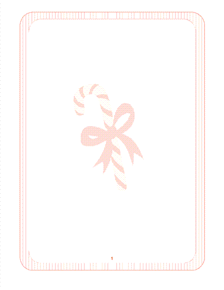 נייר מכתבים לעונת החגים (עם סימן מים של מקל סוכריות)
