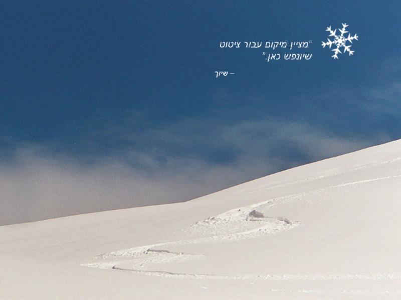 נוף שלג עם הנפשה