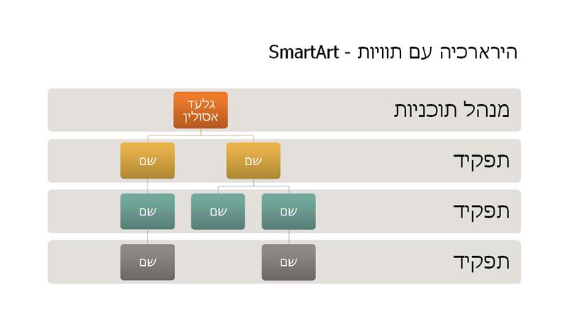 הירארכיה בתרשים ארגוני (מסך רחב)