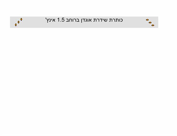 """שידרת אוגדן, 3.81 ס""""מ"""