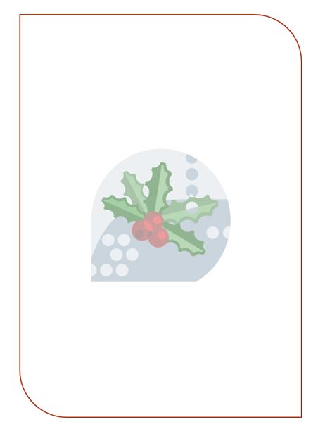 נייר מכתבים של חג (עם סימן מים בצורת עלה חגיגי)