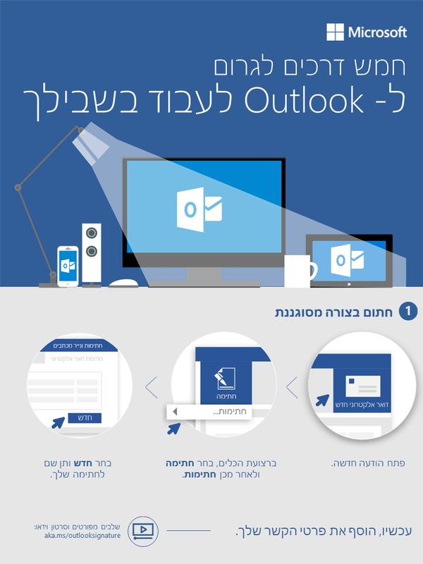 חמש דרכים לגרום ל- Outlook לעבוד בשבילך