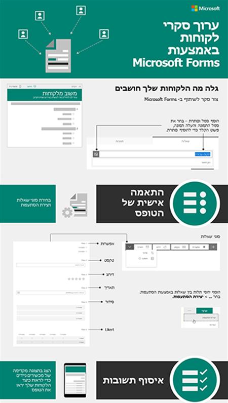 ערוך סקרי לקוחות באמצעות Microsoft Forms