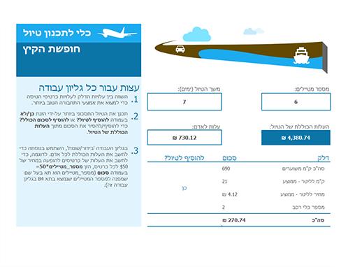לוח תכנון של נסיעות
