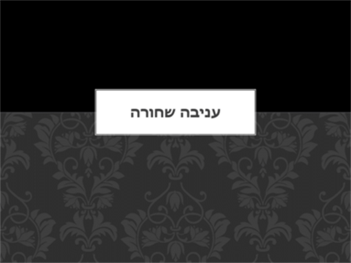 עניבה שחורה