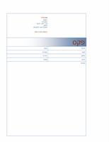 עמוד שער לפקס (עיצוב בצבע כחול)