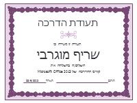תעודת הדרכה (עיצוב שרשרת סגולה)