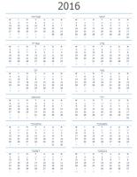 לוח שנה לכל שנה (ראשון-שבת)