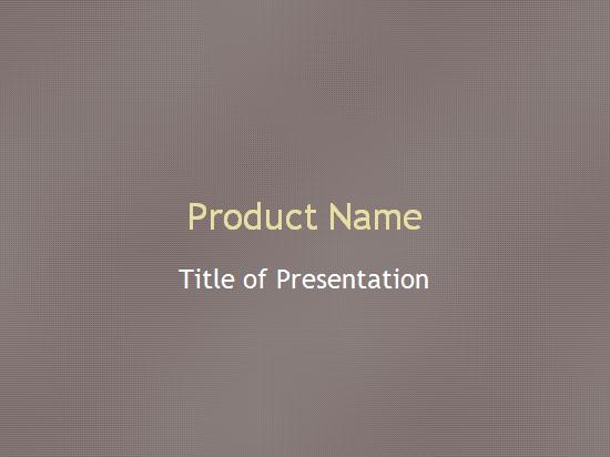 उत्पाद रूपरेखा प्रस्तुति