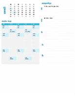विद्यार्थी साप्ताहिक योजना कैलेंडर (कोई भी वर्ष, सोम-रवि)