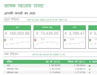 वार्षिक वित्तीय रिपोर्ट