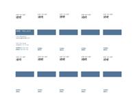 व्यावसायिक कार्ड, लोगो के साथ अनुलंब लेआउट, बाएँ-संरेखित पाठ