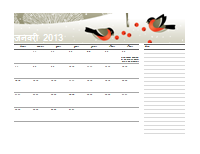 2013 जूलियन कैलेंडर (सोम-रवि)
