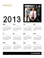 2013 व्यावसायिक कैलेंडर (सोम-रवि)