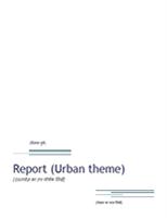 रिपोर्ट (अरबन डिज़ाइन)