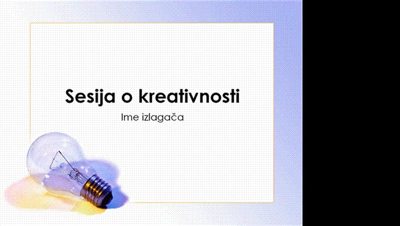 Prezentacija na kreativnoj raspravi