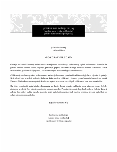Cirkularno pismo (formalni dizajn)