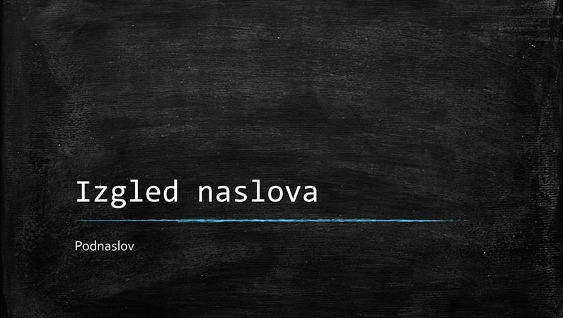Obrazovna prezentacija s motivom školske ploče (široki zaslon)