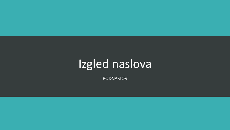 Prezentacija u modrozelenoj boji (široki zaslon)