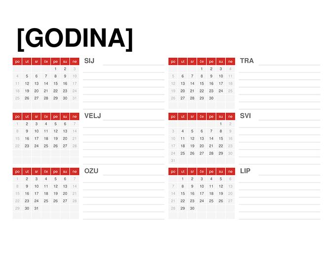Kalendar bilo koje godine