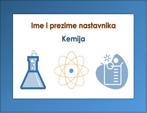 Natpis za predmet (kemiju)