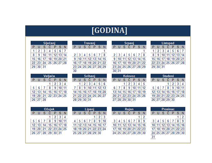 Kalendar (bilo koja godina)