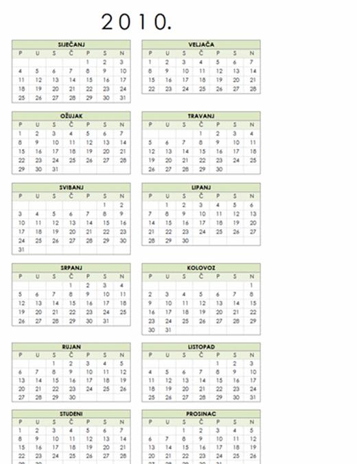 Kalendar za 2010, 1 str., portret