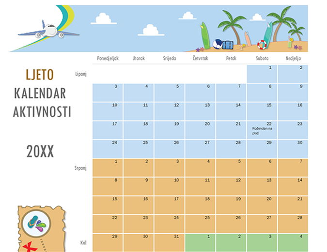 Kalendar ljetnih aktivnosti