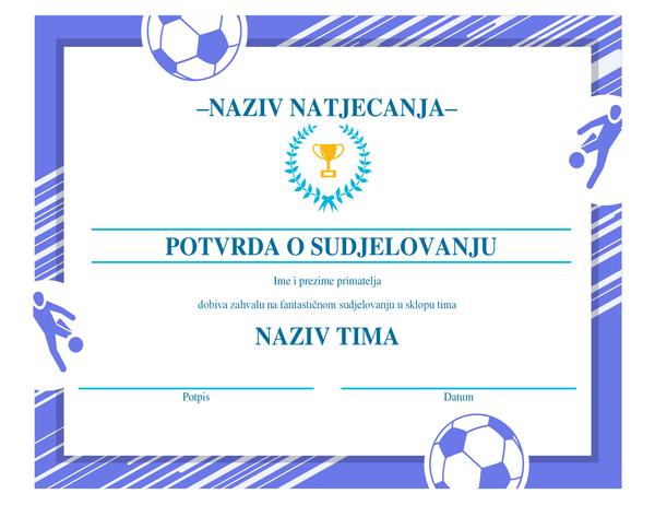 Certifikat za četiri sporta