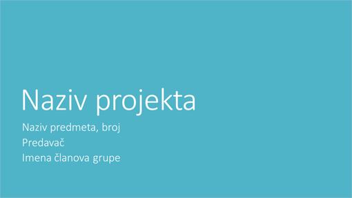 Prezentacija grupnog projekta (metropolitanske teme, široki zaslon)