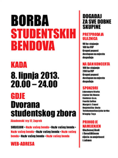 Letak za studente (crveno-crni)