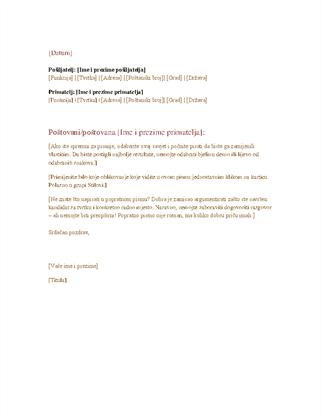 Poslovno službeno pismo