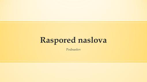 Prezentacija s dizajnom sa žutim trakama (široki zaslon)