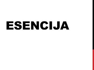 Esencija
