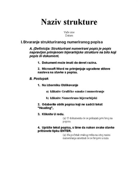 Struktura s pet razina i instrukcijama