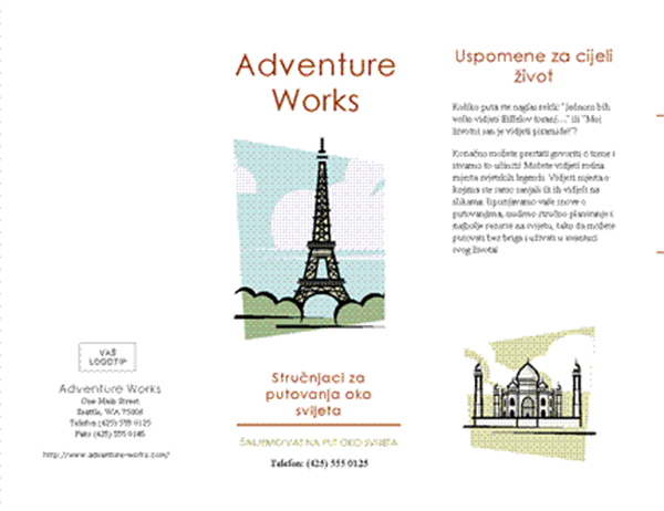 Reklamni materijal (8 1/2 x 14, pejzažni, četverostruki)