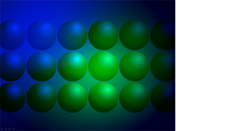 Predložak dizajna Plave i zelene lopte