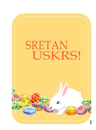 Uskršnja čestitka (sa zecom i jajima)