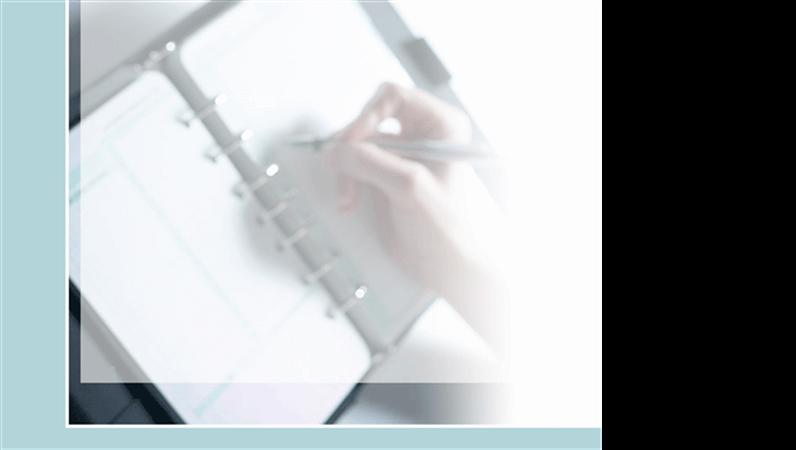 Plantilla de diseño de primer plano de mano escribiendo
