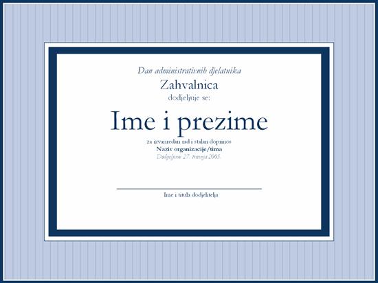 Priznanje za administrativnog stručnjaka