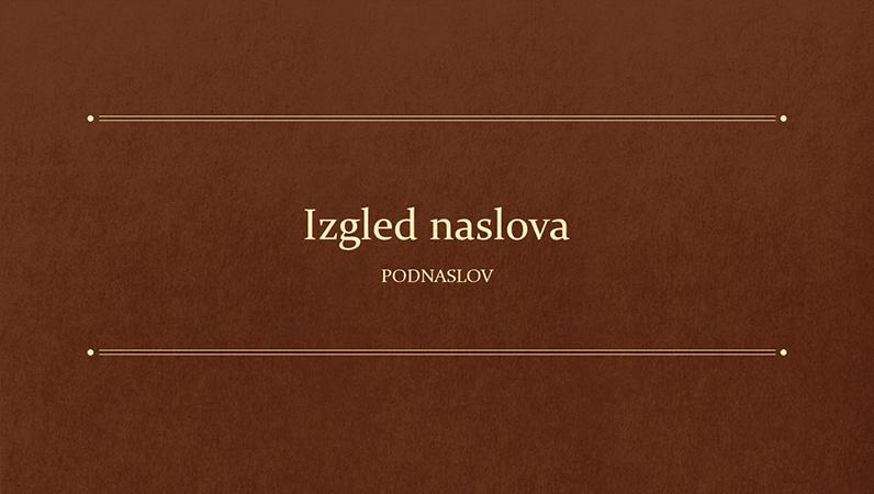 Obrazovna prezentacija s klasičnim motivom knjige (široki zaslon)