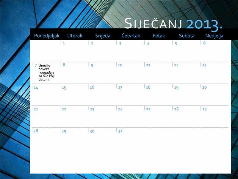 Kalendar za 2013. (pon. – ned.)