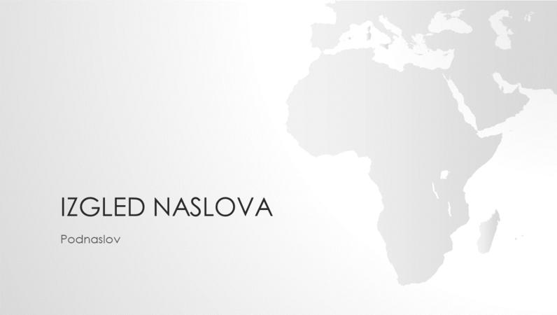 Serija karata svijeta, prezentacija s kartom afričkog kontinenta (široki zaslon)