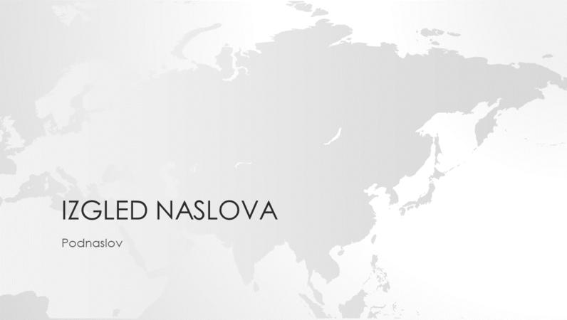 Serija karata svijeta, prezentacija s kartom azijskog kontinenta (široki zaslon)