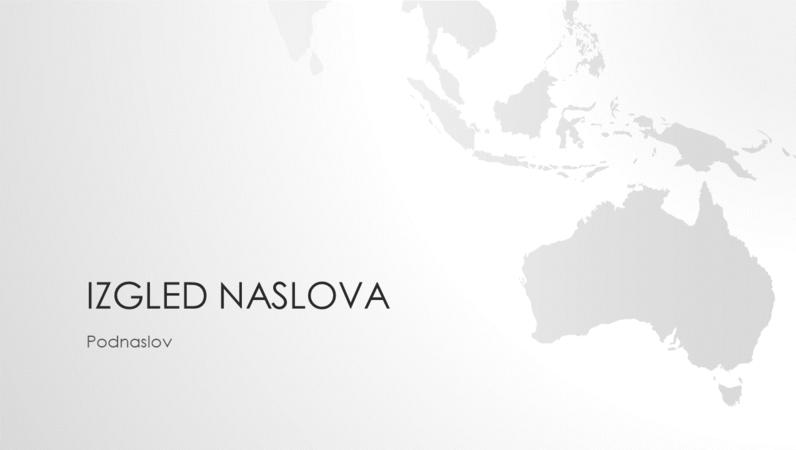 Serija karata svijeta, prezentacija s kartom australskog kontinenta (široki zaslon)